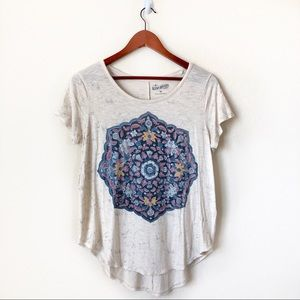 Lucky Brand • temple mandala graphic tee